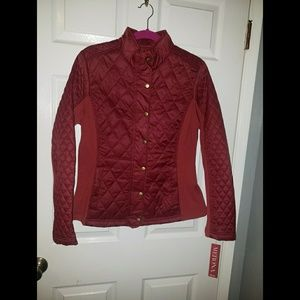 Burgandy Quilt Jacket